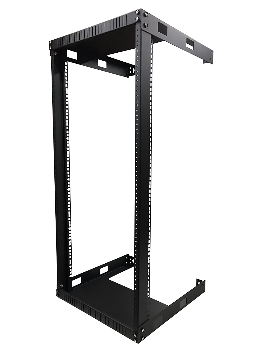 Kenuco 4U Wall Mount Open Frame Steel Network Equipment Rack 17.75 Inch Deep RACK-LNWORA-4U