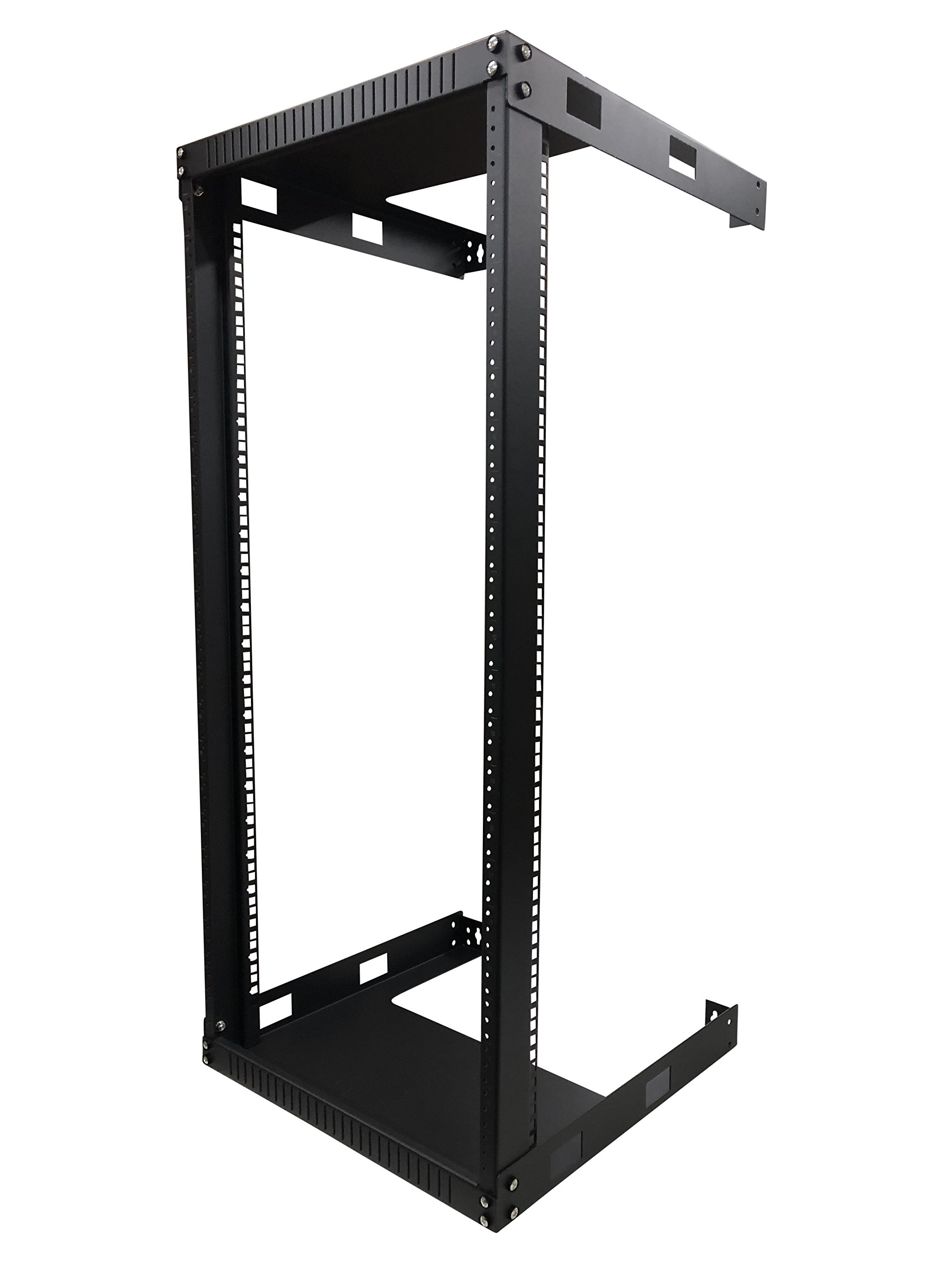 Kenuco 20U Wall Mount Open Frame Steel Network Equipment Rack 17.75 Inch Deep