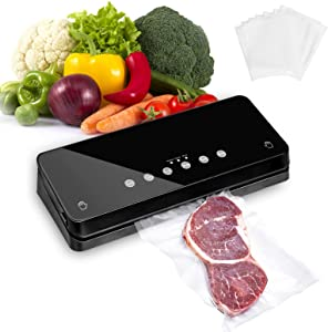 Bailamos Automatic Food Vacuum Sealer Machine, Food Vacuum Sealer for Food Preservation, Dry & Moist Food Modes