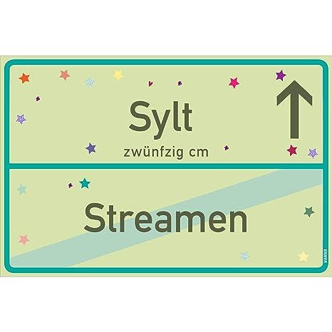 vanva Sylt - Cartel Sylt Streamen Verde Lima Sylt-Ortsschild ...