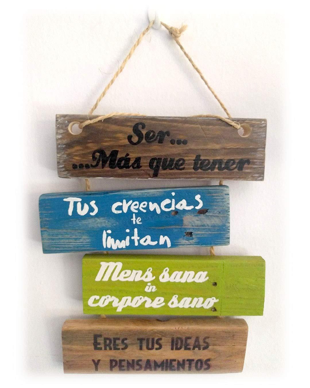 Cartel de madera decoracion hogar. Frases motivadoras ...