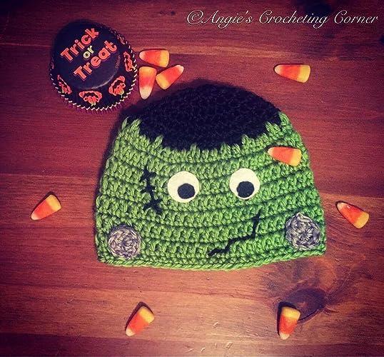 Amazoncom Frankenstein Hat Crochet Frankenstein Hat Halloween