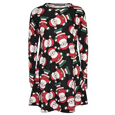 Amazon.com: Niñas vestido de Navidad Papá Noel de niños ...