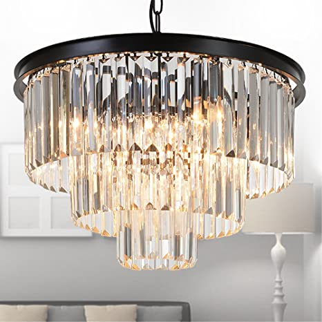 Crystal modern chandeliers pendant ceiling light 3 tier round crystal modern chandeliers pendant ceiling light 3 tier round chandelier lighting fixture for dining room aloadofball Choice Image