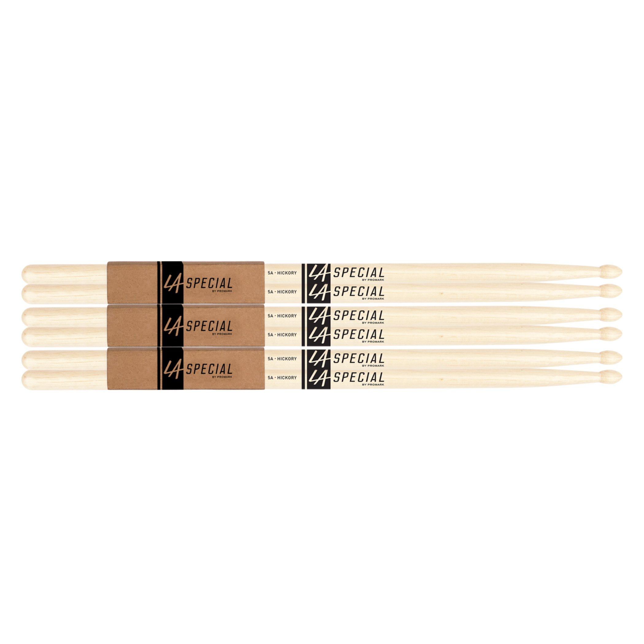 LA Specials by Promark 5A Hickory Drumsticks, 3-pack