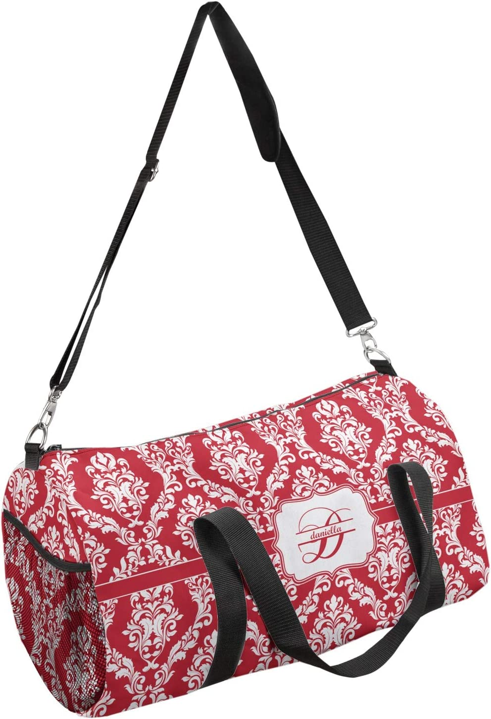 Personalized YouCustomizeIt Damask Duffel Bag