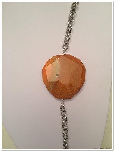 2edd4655df3d Pulsera cadena aluminio circular con piedra  Amazon.es  Handmade