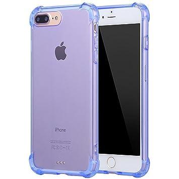3-en-1 Funda iPhone 6/6S Plus Transparente Silicona TPU Flexible + Protector de Pantalla + 4-Ángulo Grueso Airbag Diseño,SKYEARMAN 360° Totalmente ...