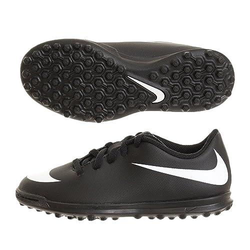 Nike Jr Bravata II TF, Zapatillas de fútbol Sala Unisex para Niños, Negro White-Black 001, 31 EU: Amazon.es: Zapatos y complementos