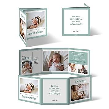 Taufeinladungen 20 Stück Bildreich Im Wickelfalz Taufkarten Taufe Einladungskarten