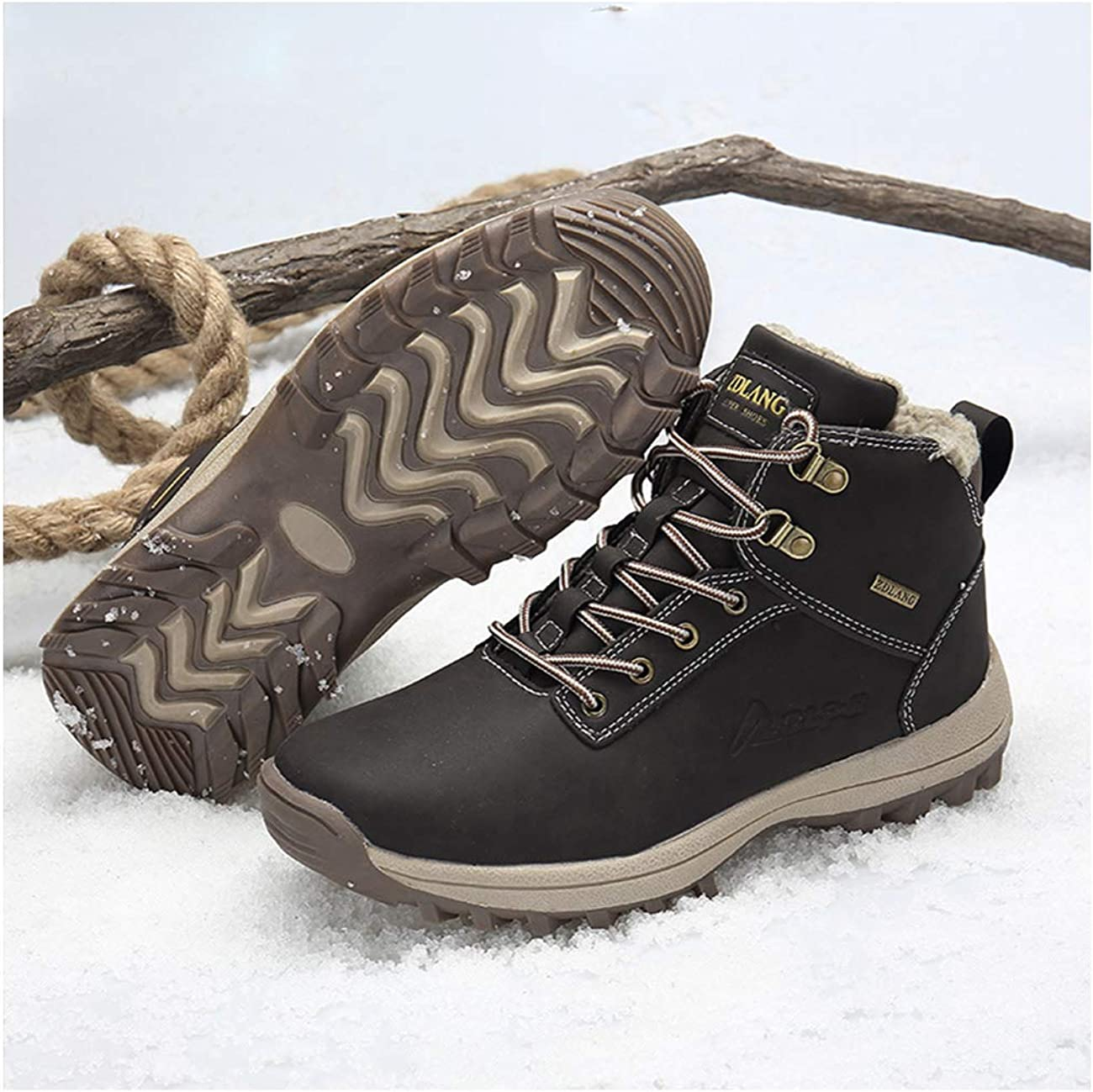 Rngtaqubeic Fur Winter Snow Boots Men Outdoor Shoes Rubber Ankle Boot Winter Shoes
