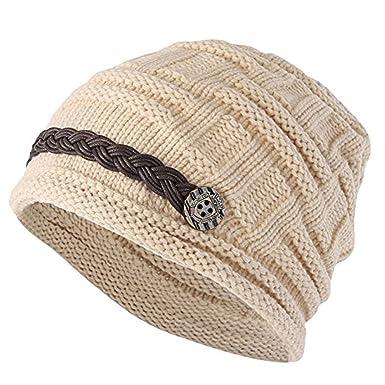 Vellette Gorros de punto Sombreros y gorras Crochet las mujeres del invierno  gorro de lana Tejer Beanie casquillos calientes  Amazon.es  Ropa y  accesorios 5a63d198e09