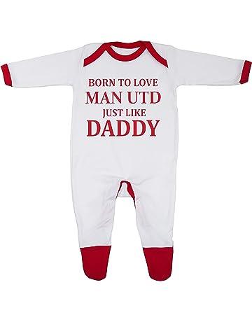 Wednesday Sheffield Just Like Daddy Football Fan Baby Grow Vest Boy Girl Gift Romper Newborn Shower