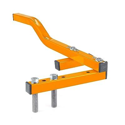 "Sonour Board Bender Floor Decking Tool - Single Arm Deck Board Straightener Bow Wrench Hardwood Flooring Jack Straightening Tool - Push & Pull - Extremely Strong Gripper Fits 2"" Floor Joists - Orange"