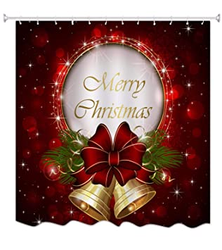 Weihnachten Grüße Bilder.A Monamour Duschvorhänge Rote Bokeh Hintergründe Frohe Weihnachten