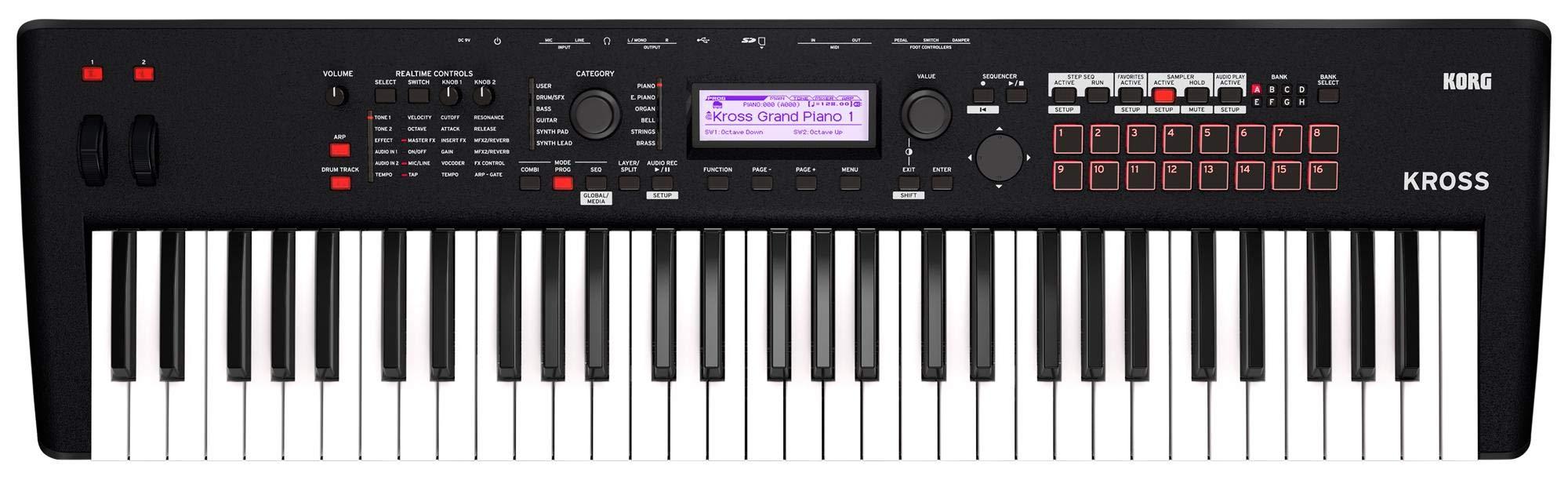 Korg Kross 2-61 61-Key Synthesizer Workstation
