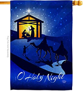 Ornament Collection Star of Bethlehem House Flag Winter Nativity Three King Religious Holy Family Season Wintertime Christian Decoration Banner Small Garden Yard Gift Double-Sided, Made in USA