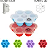 Premium Silicone Egg Bites Molds for Instant Pot Accessories, Pressure Cooker Accessories Inserts - Silicone Lid and Plastic Lid Included - Baby Food Freezer Trays, Egg Bites Mold for Insta Pot
