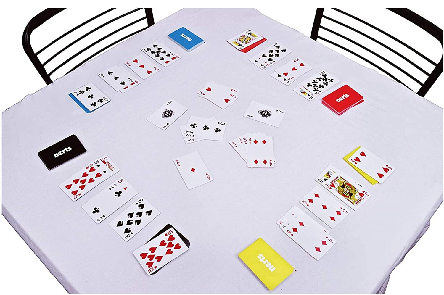 6 Colorful Decks of Standard Playing Cards Dynasty Toys Nerts Card Game Travel Box Set 50 Unique Consequence Cards