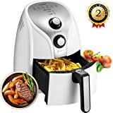 Comfee 1500W Multi Function Electric Hot Air Fryer with 2.6 Qt. Removable Dishwasher Safe Basket (White)