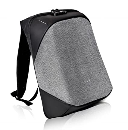 6d7962bab5a0 Korin Design Anti-Theft Waterproof Backpack Laptop Bag with USB Charging  Port (Black and Grey)  Amazon.in  Bags
