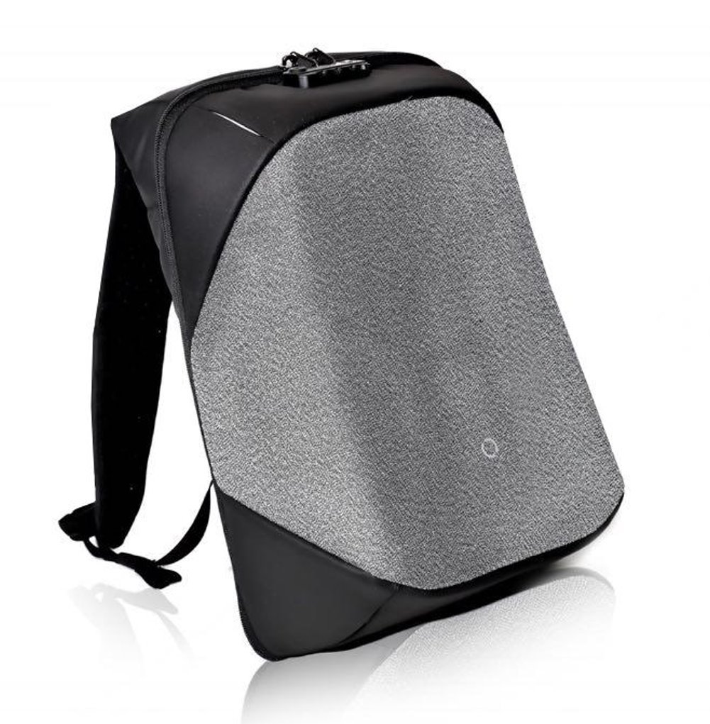 Korin Design ClickPack Pro - Anti-theft BackPack Laptop Bag with USB charging port large capacity waterproof TSA travel friendly Black and Grey by Korin Design