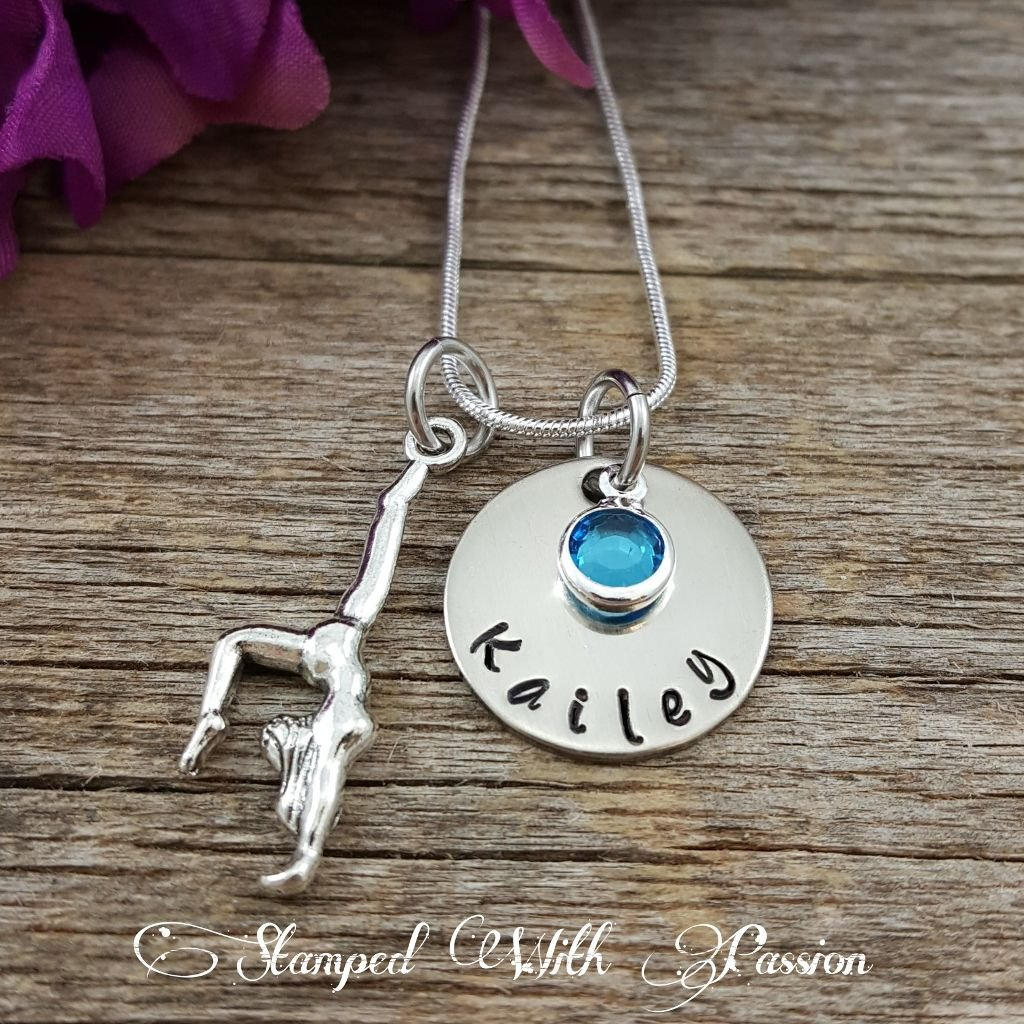Gymnastics Gifts • Gymnastics Necklace • Gymnast Jewelry • Girl Gift • Gymnastics Jewelry • Personalized Gymnastics gift • Gift for her