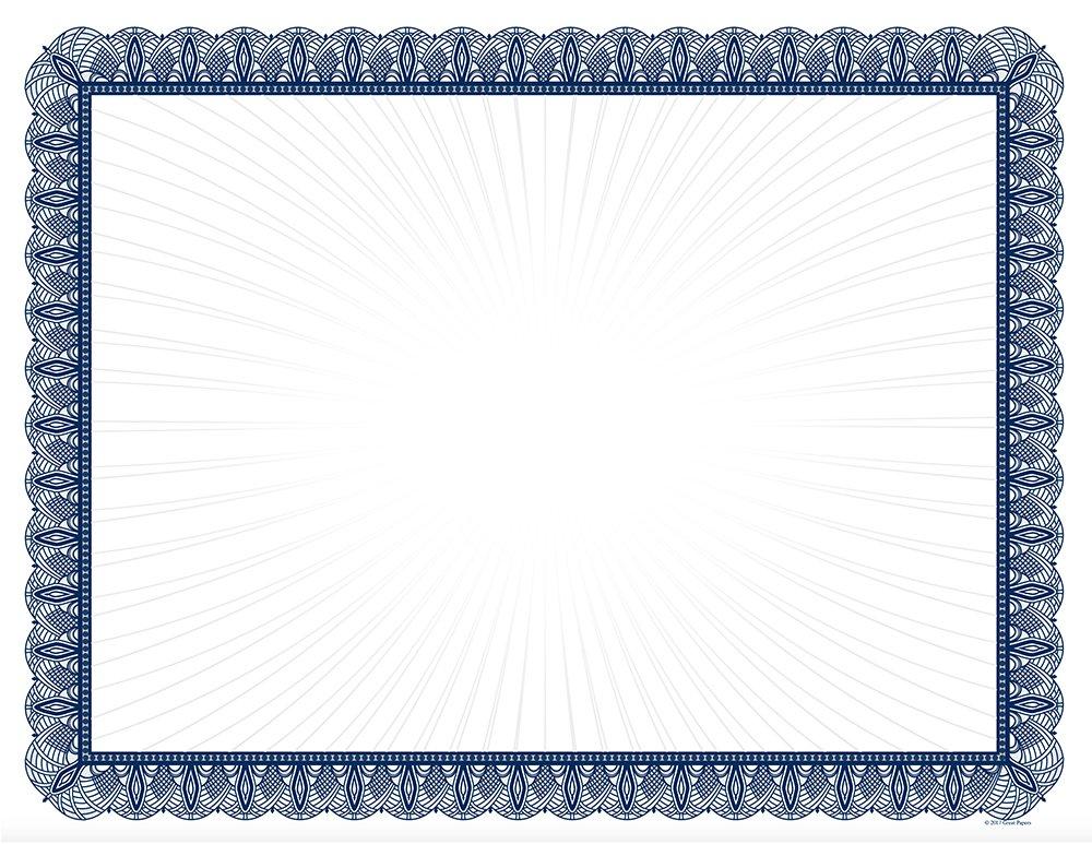 Blue Value Certificates - 100 Certificates