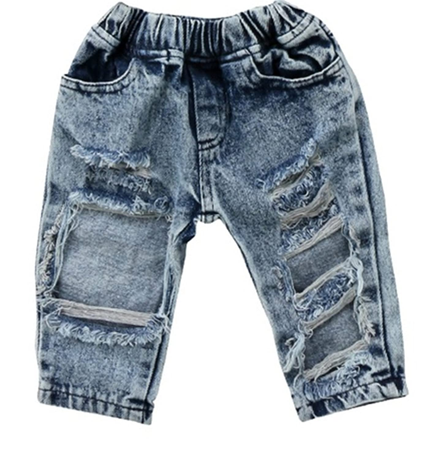 052355f1e [Wide Application] Unisex casual jeans, newborn toddler jeans girl boy.  Children, kids ...