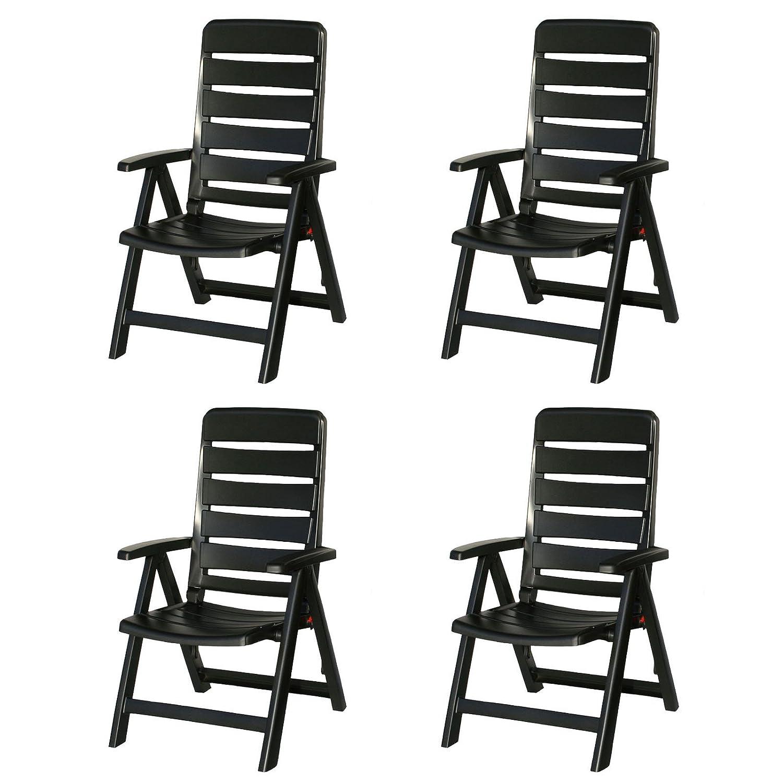 4 kettler nizza gartenst hle in anthrazit klappsessel gartenm bel sessel bestellen. Black Bedroom Furniture Sets. Home Design Ideas