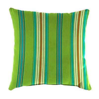 Plow & Hearth Polyester Classic Throw Pillow - 22 sq. x 8 Tangier Stripe : Garden & Outdoor