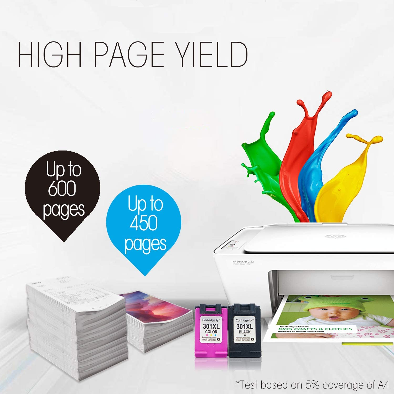 Cartridgeify 301XL Reemplazo HP 301 XL Cartuchos de Tinta Pack Ahorro, Compatible con HP DeskJet 1050a 1510 2050 2510 2540 OfficeJet 2620 4630 Envy 4500 4502 4507 5530 Negro+Tricolor: Amazon.es: Electrónica