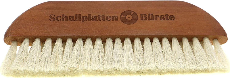 Schallplattenbürste Aus Birnbaum Holz Mit Feinem Ziegenhaar Zur Sanften Reinigung Von Vinyl Schallplatten Lp Staubpartikel Werden