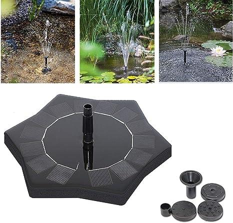 MJLXY Bomba de Agua Solar, Bird Accionada la Bomba de la Fuente del baño Solar Lindo, Panel Derecho Libre Jardín Solar Kit de Bomba de Agua, al Aire Libre Riego Bomba Sumergible: