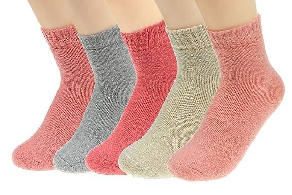 UMIPUBO 5 Pares Calcetines de Invierno Térmicos Calcetines de Invierno de Lana Mujer Gruesa Suave Calcetines: Amazon.es: Ropa y accesorios