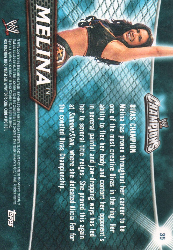 2011 Topps Champions WWE Wrestling #35 Melina at Amazon's Sports