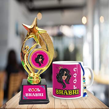 Buy Family Shoping Birthday Gifts For Bhabhi Bhai Dooj Sister In Law Cool Bhabi Coffee Mug Set Of 2 1 Trophy Online At Low Prices