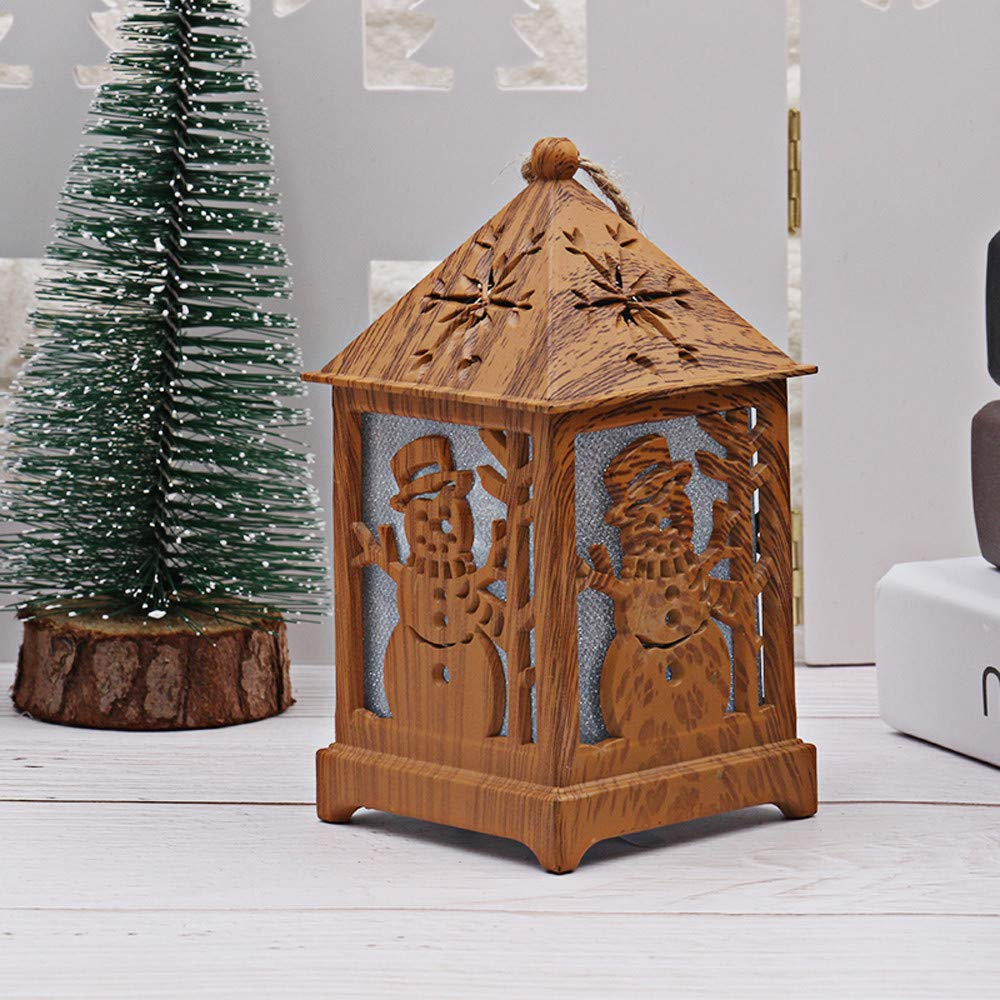 Christmas Decoration DIY Cabin Wooden Christmas Snow House with Light (B) by Coerni (Image #1)