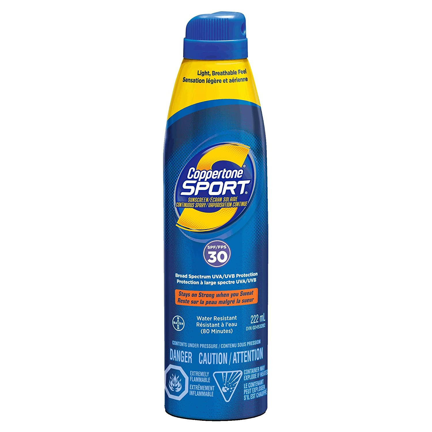 Coppertone Sport Clear Continuous Spray Sunscreen Spf30 0.55-Pounds