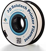 3D Solutech Real White 3D Printer PLA Filament 1.75MM Filament, Dimensional Accuracy +/- 0.03 mm, 2.2 LBS (1.0KG) - PLA175RWH