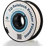 3D Solutech Real White 1.75mm Flexible 3D Printer Filament 2.2 LBS (1.0KG) - FLXB175RWHT