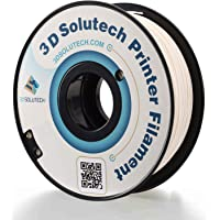 3D Solutech filamento para impresora 3D flexible de 1,75 mm, color blanco real, 2.2 libras (1,0 kg), Blanco