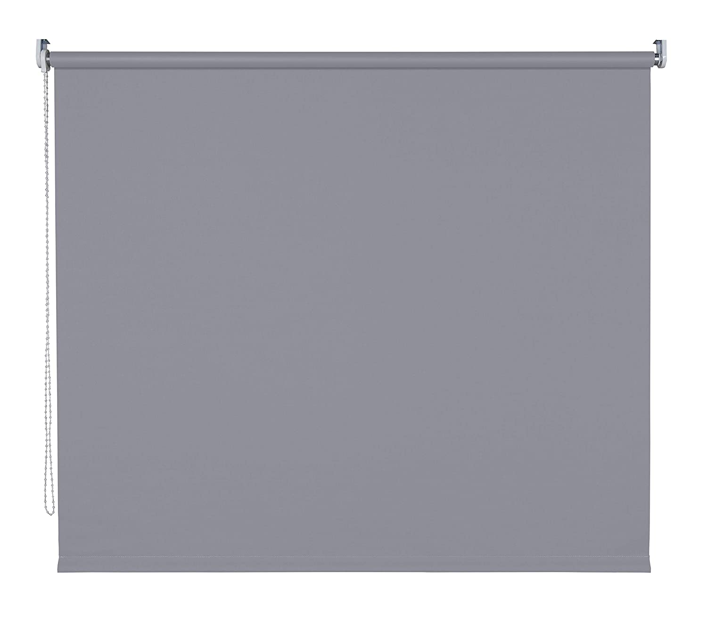 Verdunklungsrollo Fenster Tür Rollo Farbwahl Kettenzugrollo Seitenzugrollo Breite 60 - 200 cm Höhe 180 cm u. 240 cm Stoff lichtundurchlässig Metall Klemmhalter ohne Bohren (150 x 180 cm   Dunkelgrau)
