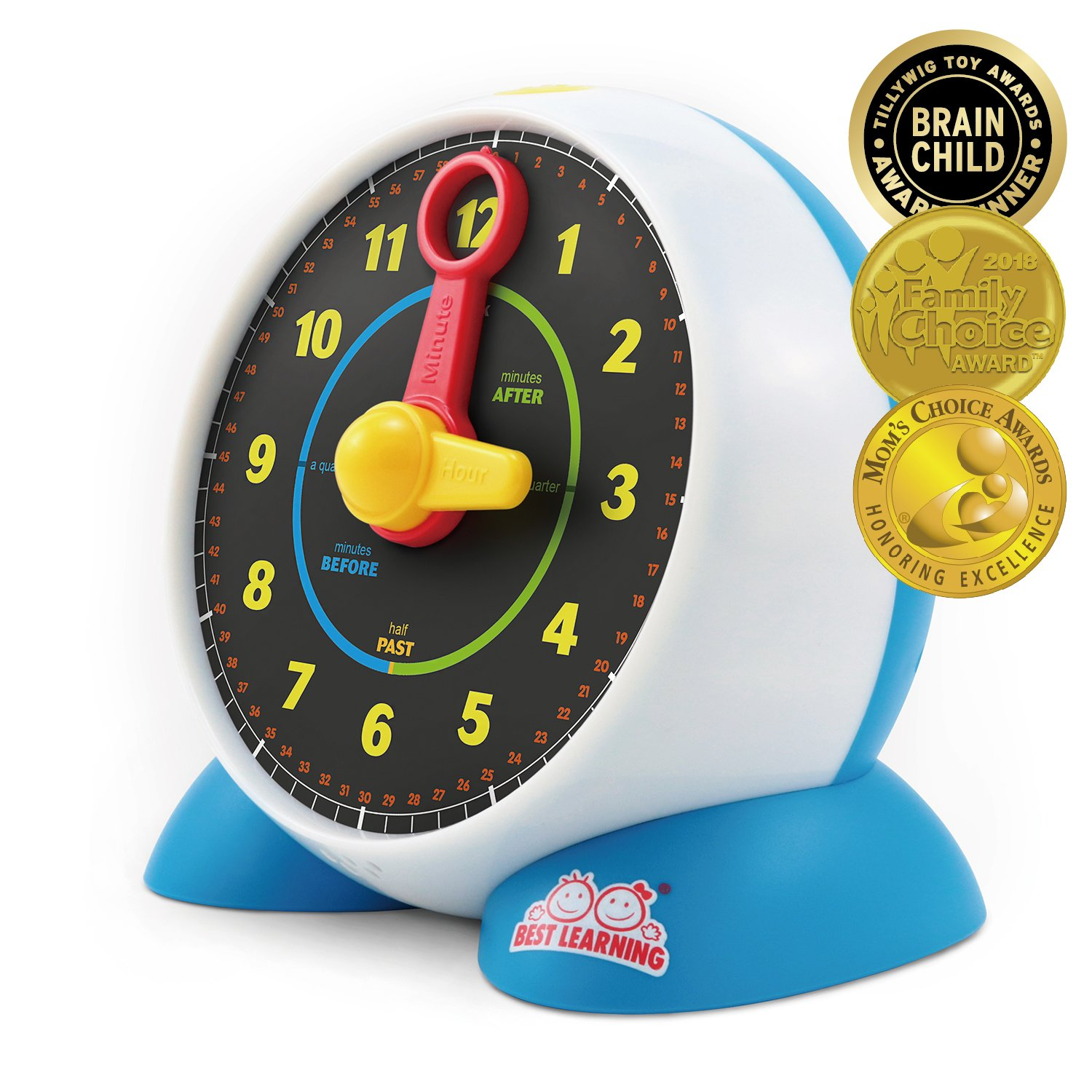 BEST LEARNING Learning Clock - Educational Talking Learn to Tell Time Light-Up Toy with Quiz and Sleep Mode for Toddlers Kids