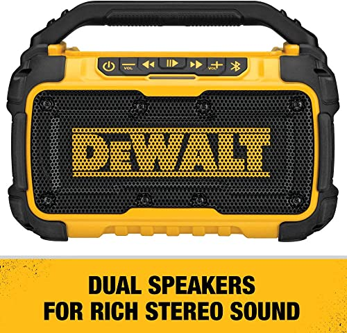 DEWALT DCR010 20V Max Bluetooth Jobsite Speaker Tool Only