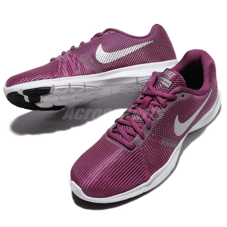 ba788cc6d77 Wmns Nike Flex Bijoux Tea Berry Metallic Silver Women Training Shoes 881863- 601  Amazon.in  Shoes   Handbags