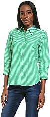 Chaps Blusa Verde a Rayas Blusa para Mujer