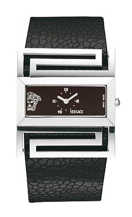 Versace - Versace Deauville VSQ99D009S009 - Montre Femme - Quartz - Bracelet  Cuir Noir 7201093063d