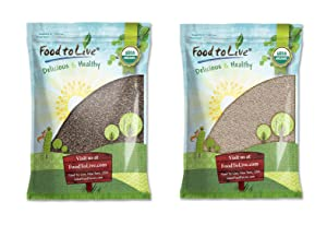 Organic Chia Seeds Bundle – Organic Black Chia Seeds, 5 Pounds and Organic White Chia Seeds, 5 Pounds- Non-GMO, Kosher, Raw, Vegan, Great for Cereals and Smoothies