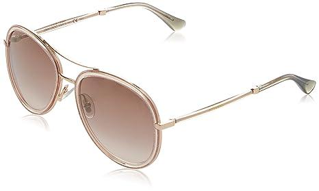 Jimmy Choo Tora Aviator Sunglasses in Pink Glitter TORA/S QBQ 57 57 Brown  Gold